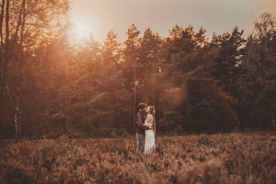 Hochzeitsfotografie in der Senne in Paderborn