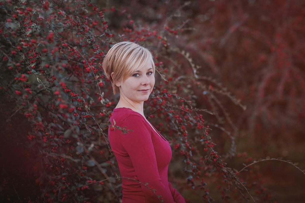 Frauenportrait im Herbst