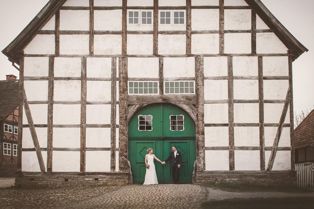 Hochzeitsfotograf im freilichtmuseum in Detmold