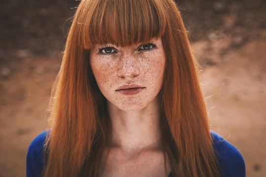 Porträt Frau rote Haare sinnliches Portait aus Paderborn