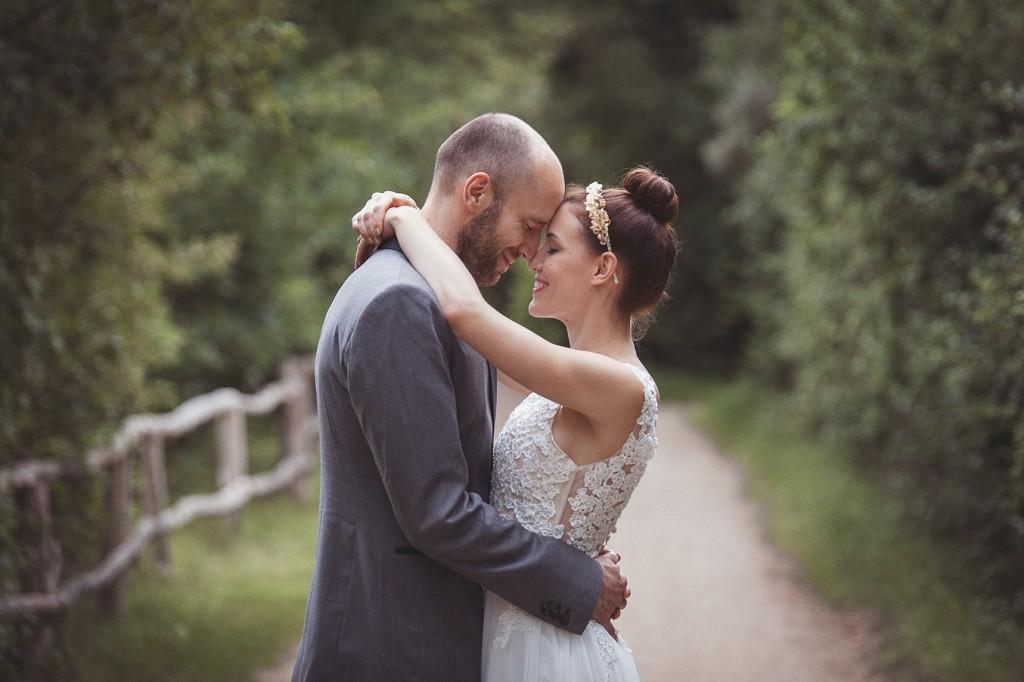 Brautpaar beim Hochzeitsshooting