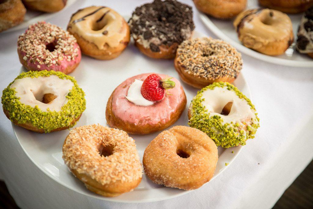 Donuts für die Gartenhochzeit