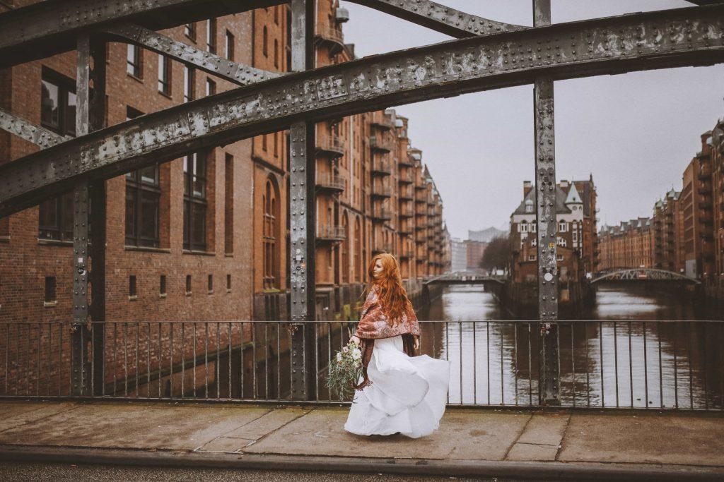 Brautpaarshooting in der Speicherstadt