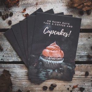 Postkarten Cupcake Herbst