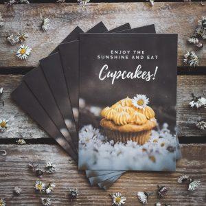 Postkarten Cupcake Sommer