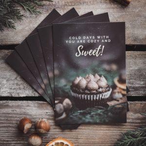 Postkarten Cupcake Winter